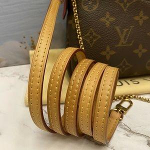 Louis Vuitton Bags - Louis Vuitton Pallas Cerise Red Clutch (CA5106)